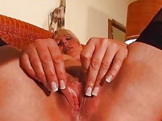mature blonde enjoys her own body dbm episode