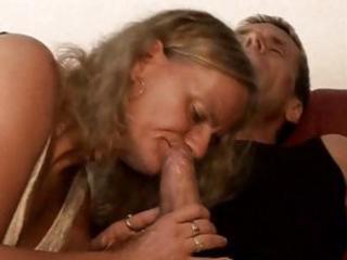 bulky blonde granny nibbles on his juvenile jock
