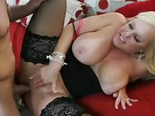 enormous chested golden-haired momma in nylons