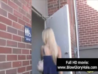 gloryhole - hawt breasty babes love sucking dong