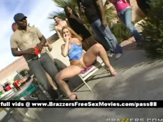 mature blond whore at a party receives a blowjob