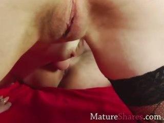 older slut giving rimjob