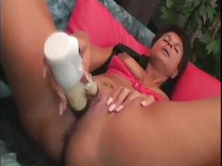 aged european bitch ivana toys her snatch then