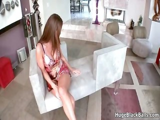 sexy dark brown babe goes crazy engulfing