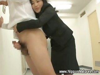 oriental teacher gives her student a rimjob
