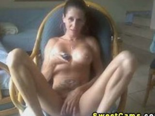 breasty hot mature stripper fingering