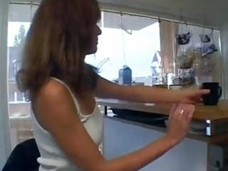Horny german mom in her kitchen