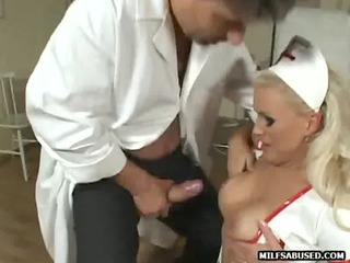 this sexy big tit blond d like to fuck nurse is