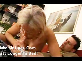 sexy aged golden-haired enjoying youthful pounder