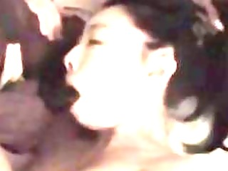 Asian wife sucking and fucking a black monster