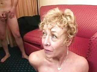 Amateur italian mature bukkake