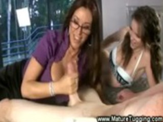 mumma joins her daughter for a tug fest