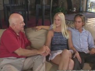 nice-looking blond wife screwed and had a facial