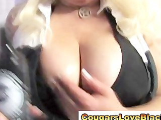 naughty big tits interracial cougar