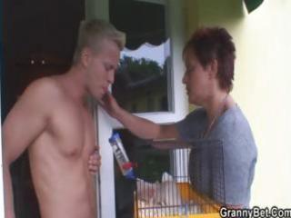 hung lad fucks neighbor granny