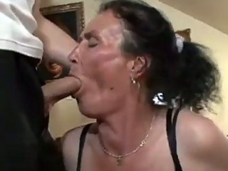 busty brunette granny acquires wicked pussy