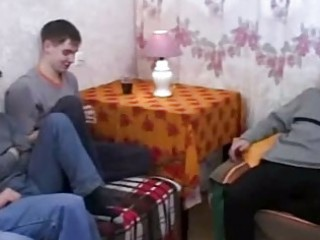 real russian mommy copulates her sons friends