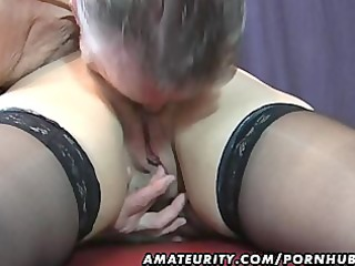 old dilettante pair home act with cum on milk